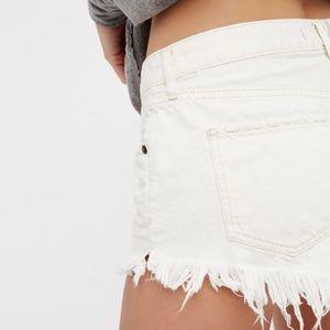 Free People Shorts - Free People white denim shorts